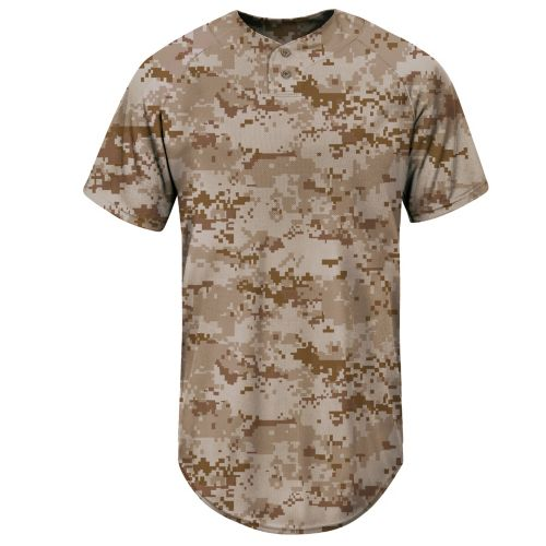 Majestic® Adult Coolbase® USMC Desert Marpat Digital Camo Two-Button Jersey