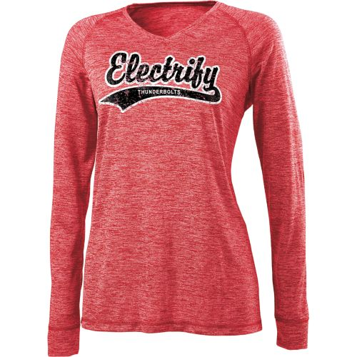 LADIES' ELECTRIFY 2.0 SHIRT V-NECK  L/S
