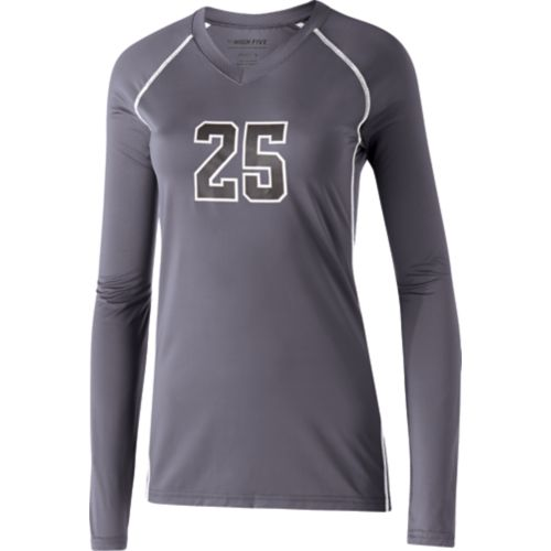 LADIES' SOLID VOLLEYBALL JERSEY L/S