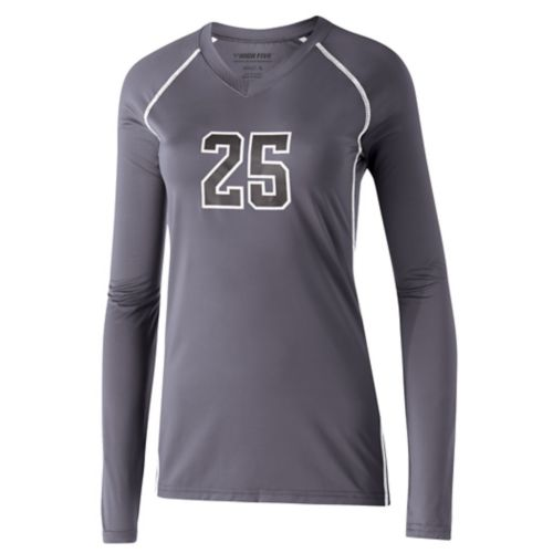 GIRLS' SOLID VOLLEYBALL JERSEY L/S