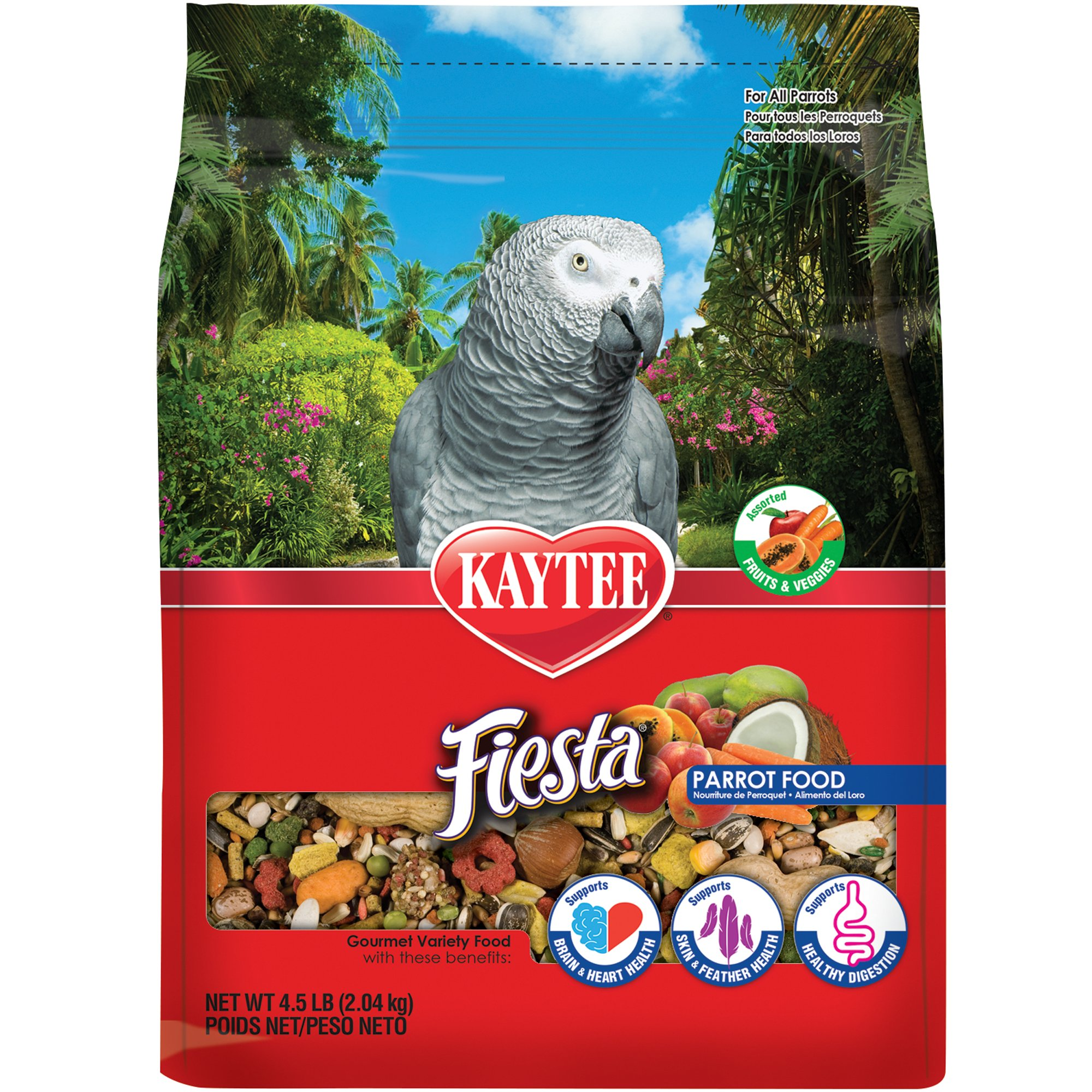 kaytee fiesta max bird food for parrots petco