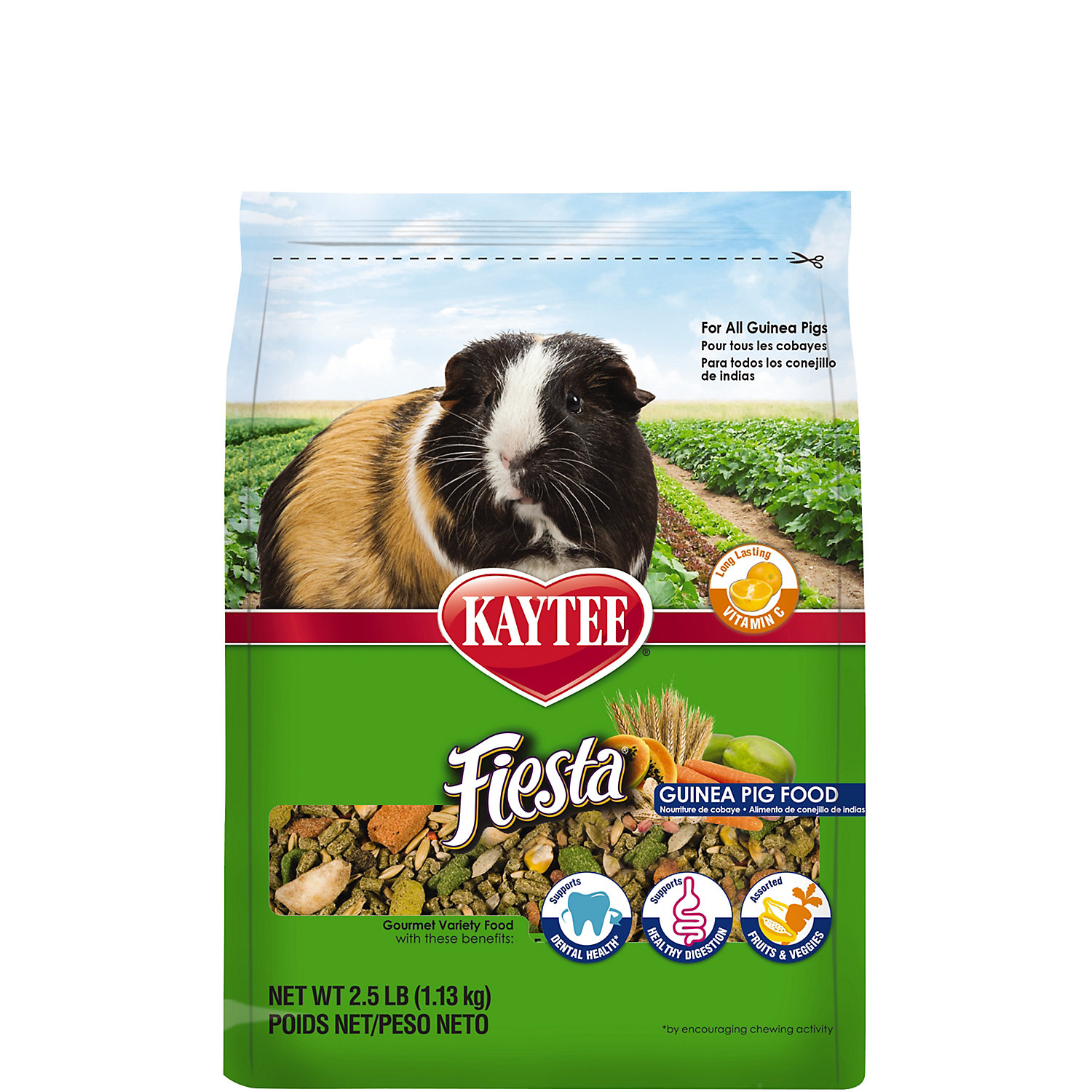 Kaytee Fiesta MAX Food for Guinea Pigs, 25 LBS