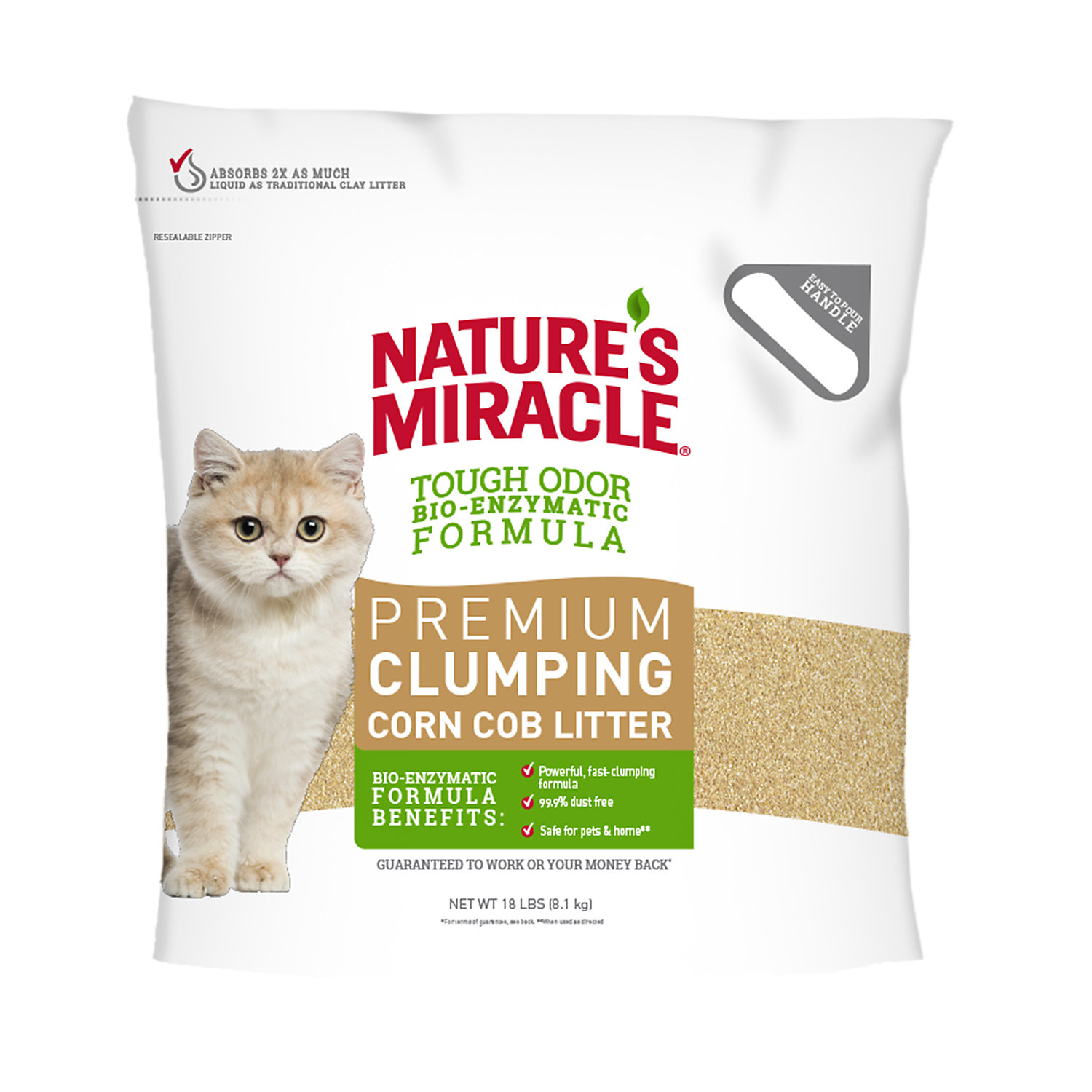 Natures Miracle Natural Care Odor Control Clumping Cat Litter 18 Lbs.