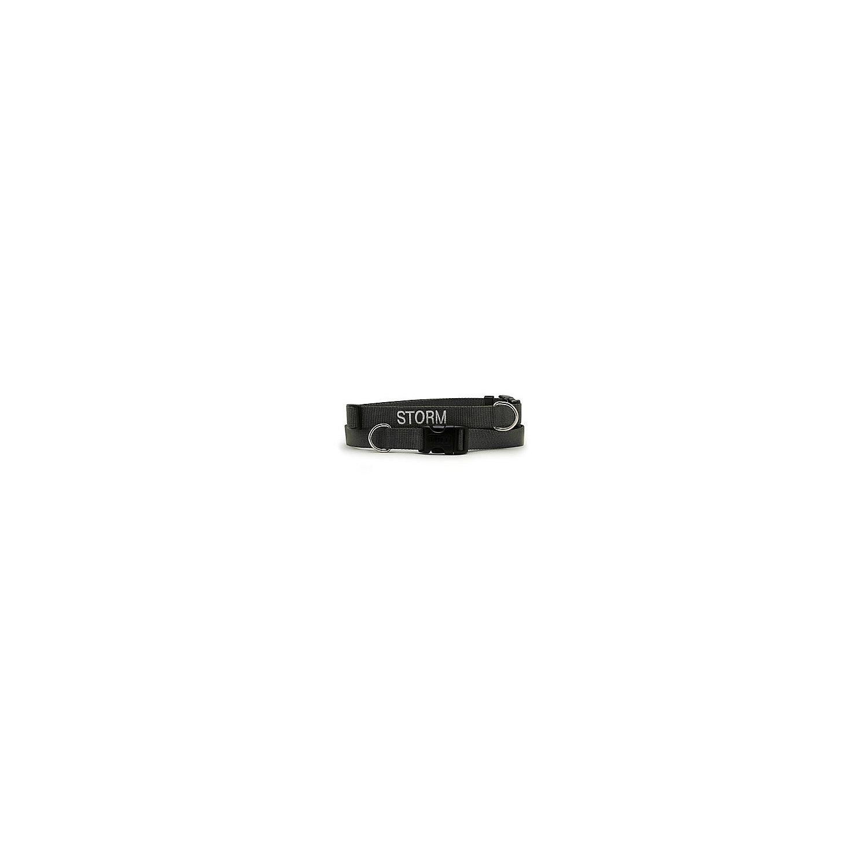 Coastal Pet Adjustable Nylon Tuff Collar In Black 3/4 W Large