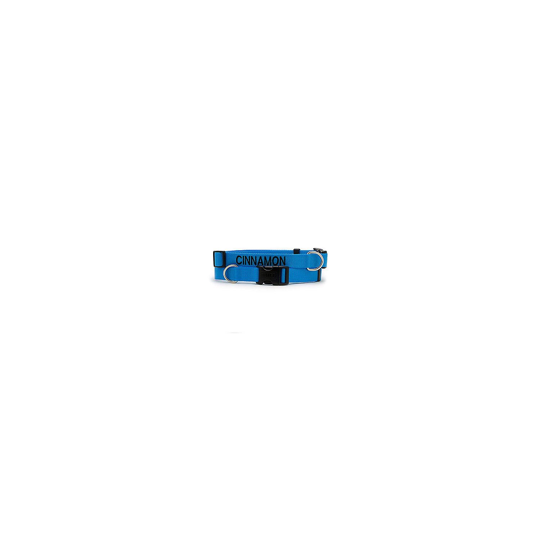 Dickens Closet Adjustable Nylon Tuff Collar In Blue Large