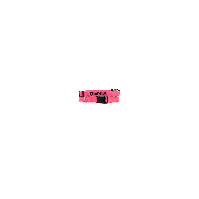 Dickens Closet Adjustable Nylon Tuff Collar In Neon Pink Large