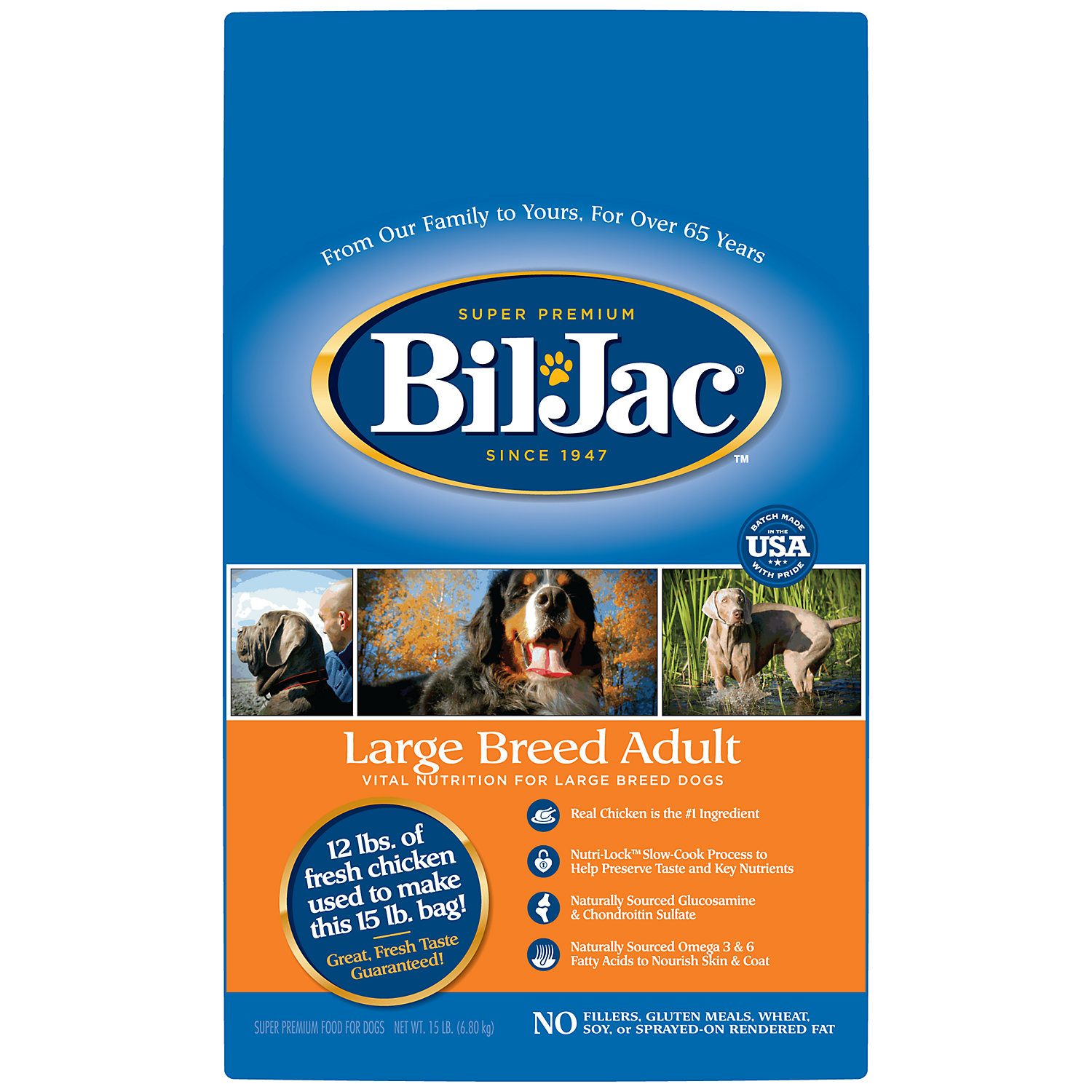 Bil Jac Large Breed Adult Select Dry Dog Food 15 Lbs. 15 Lb Bag