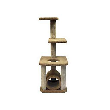 North American Classy Kitty Pet Deluxe Cat Tree With Tunnel
