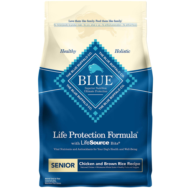 Blue Buffalo Chicken Brown Rice Senior Dog Food 6 Lbs.