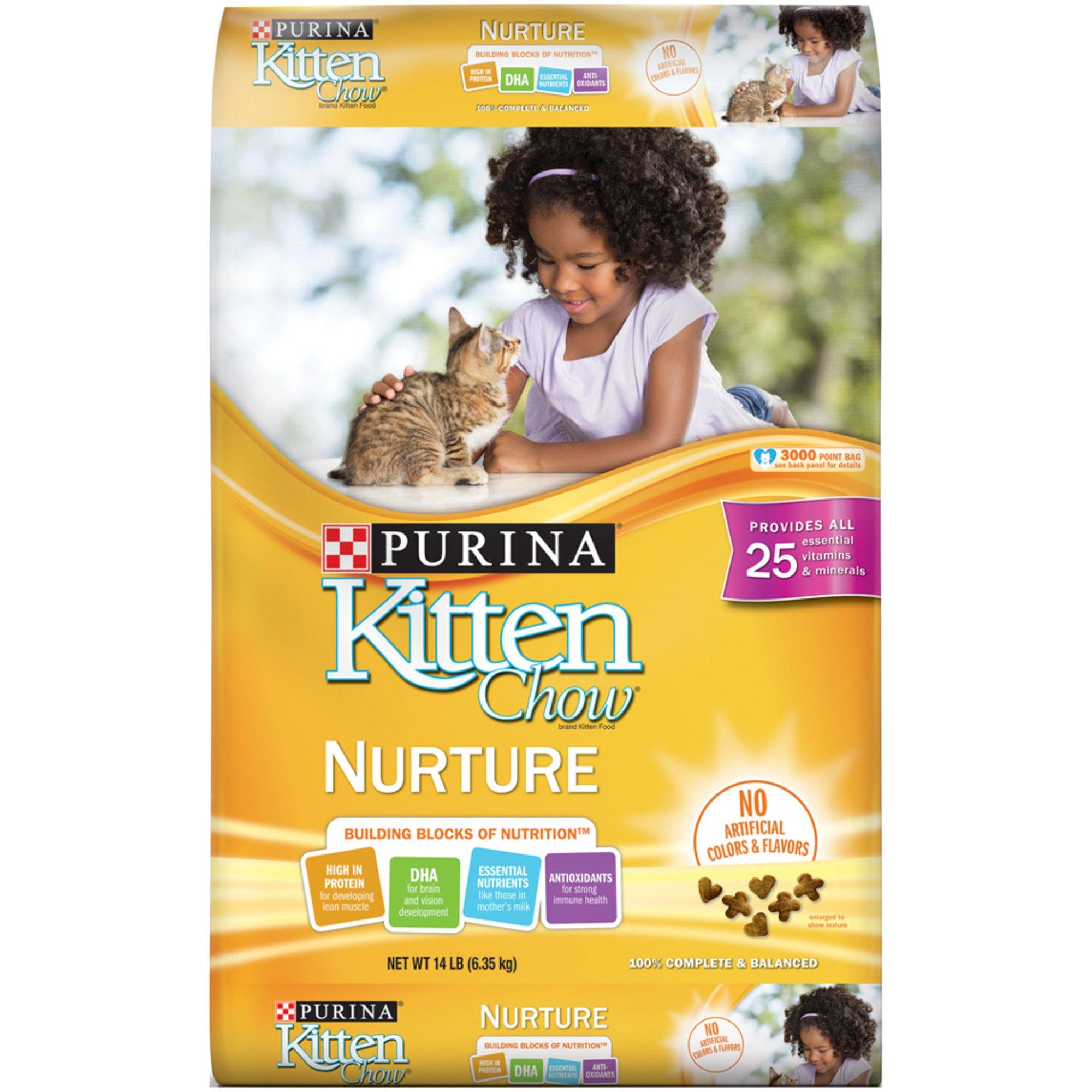 purina kitten chow nurture formula kitten food  14 lbs