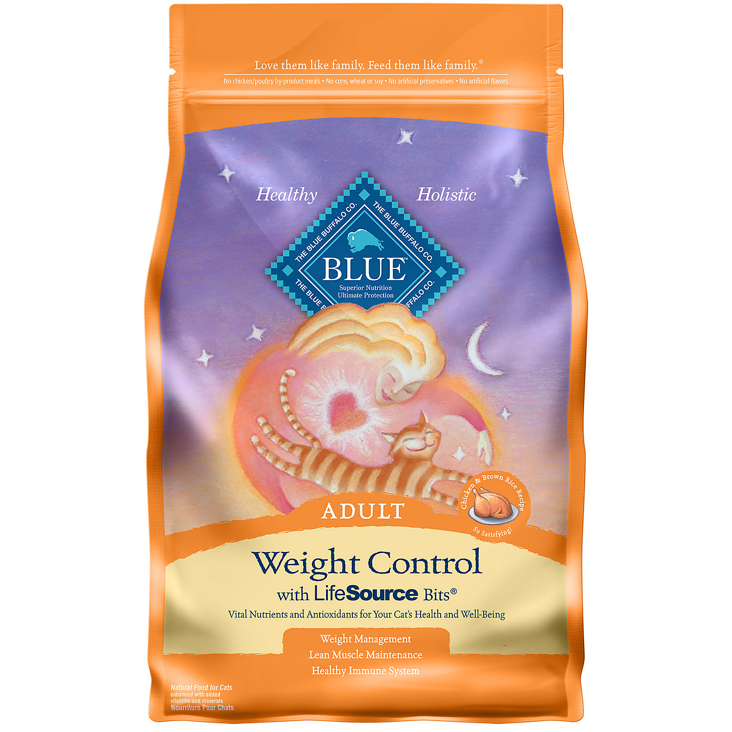Blue Buffalo Weight Control Chicken Brown Rice Adult Cat Food 3 Lbs.