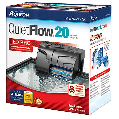 Aqueon quietflow 20 aquarium power filter petco for Petco fish tank filters