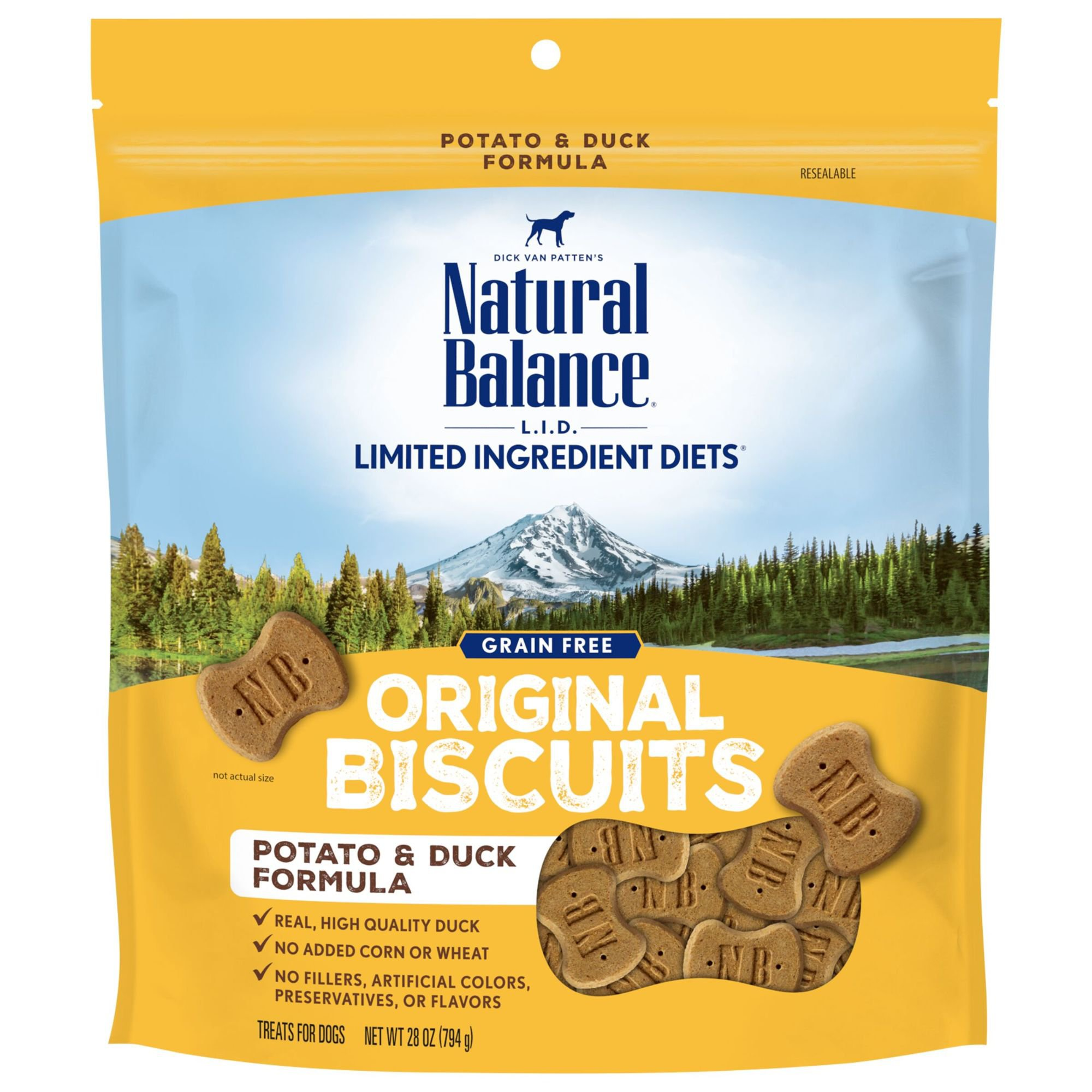 Natural Balance L.I.T. Limited Ingredient Treats Potato & Duck Formula Treats, 14 oz.