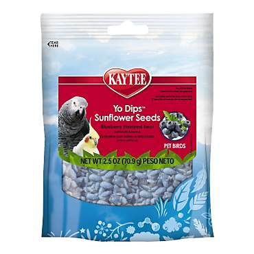 Kaytee Fiesta Blueberry Flavored Yogurt Dipped Sunflower Seeds Bird Treat