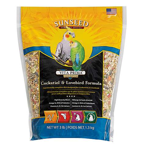 Sun Seed Vita Prima Sunscription Cockatiel & Lovebird Food