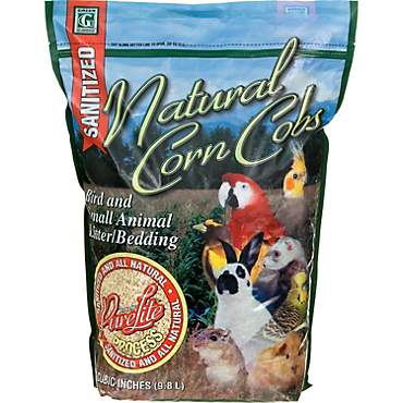 Natural Corn Cobs with the PureLite Process Bird & Small Animal Litter/Bedding