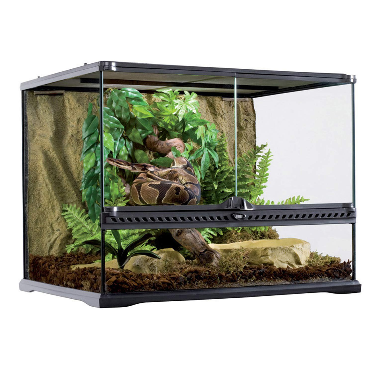 exo terra med wide terrarium 24 x18 x18 petco. Black Bedroom Furniture Sets. Home Design Ideas