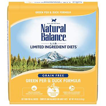 Natural Balance L.I.D. Limited Ingredient Diets Green Pea and Duck Formula Cat Food