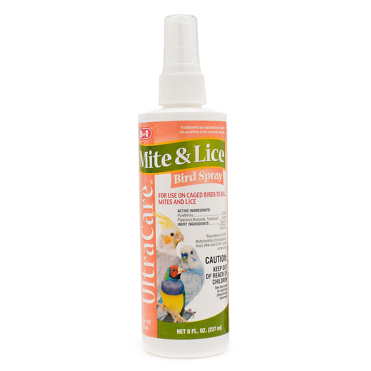 8 In 1 Ultra Care Mite Lice Bird Spray 8 Oz.