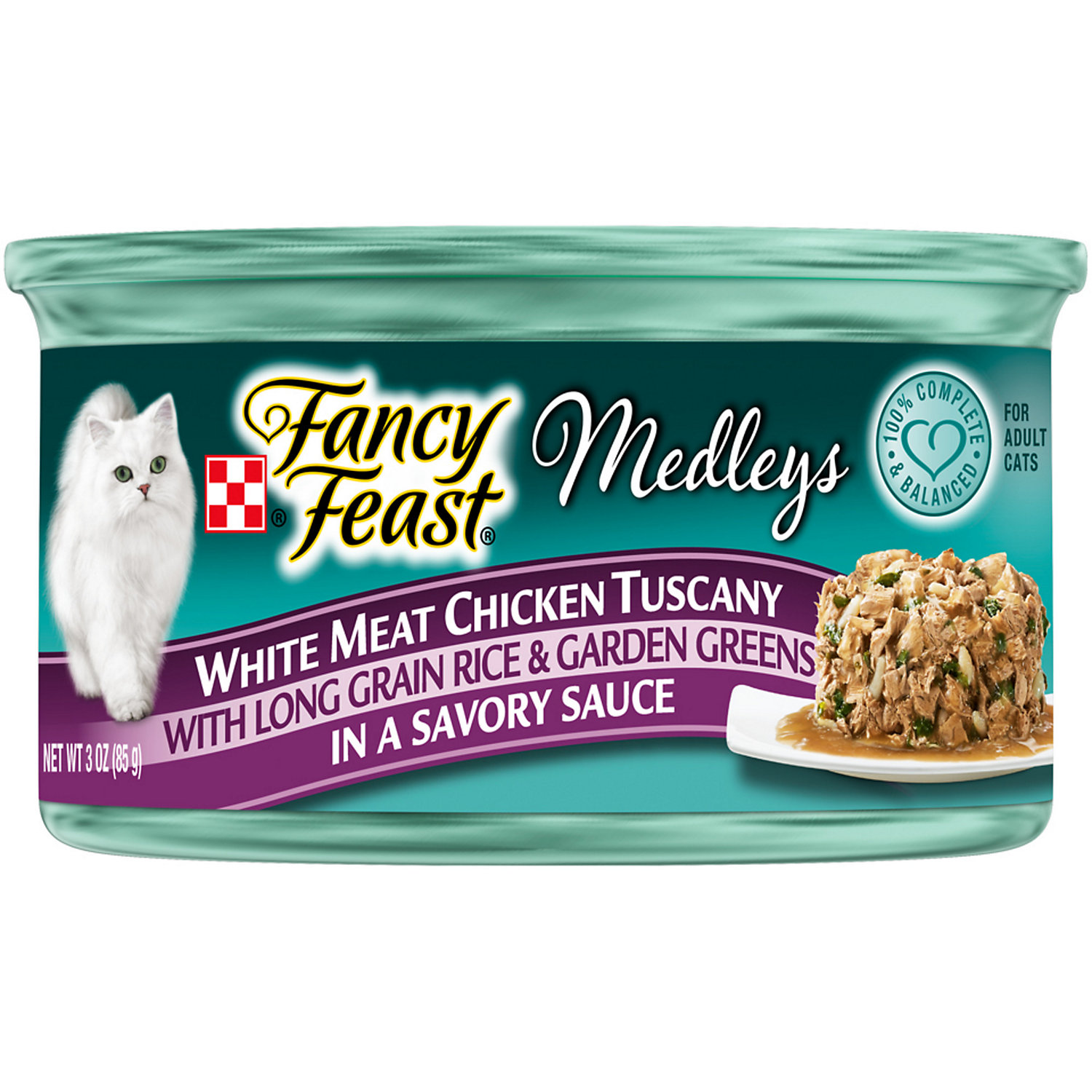 Fancy Feast Elegant Medleys White Meat Chicken Tuscany Adult Canned Cat Food In Sauce 3 Oz.
