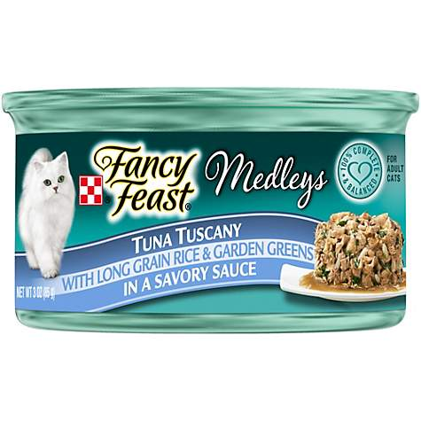 Purina Fancy Feast Medleys Tuna Tuscany With Long Grain Rice & Garden Greens in a Savory Sauce Adult Wet Cat Food
