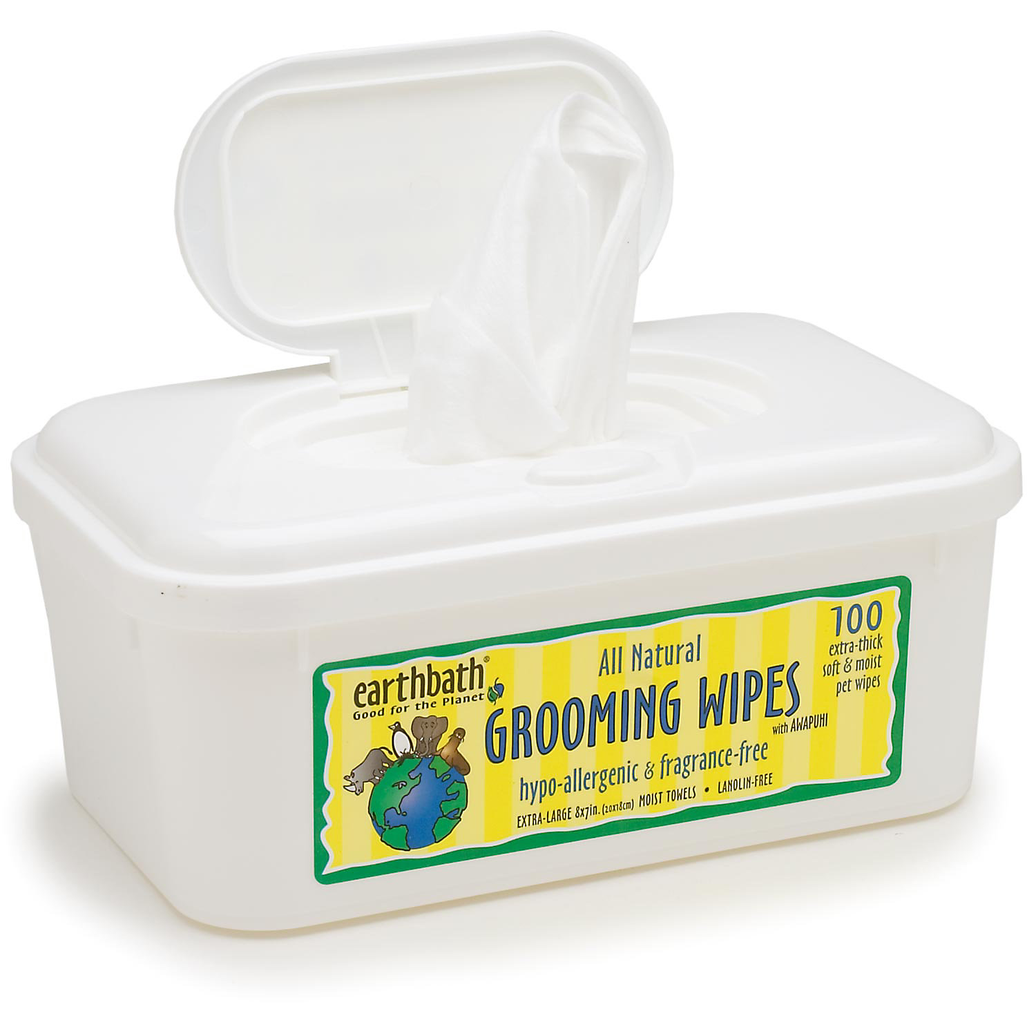 Earthbath All Natural Hypo Allergenic And Fragrance Free Grooming Wipes