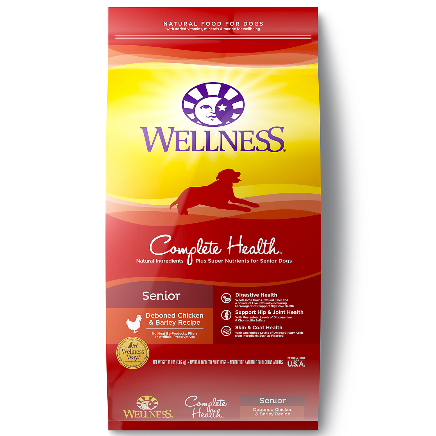 Wellness Complete Health Natural Senior Health Recipe Dry Dog Food 30 Lbs.