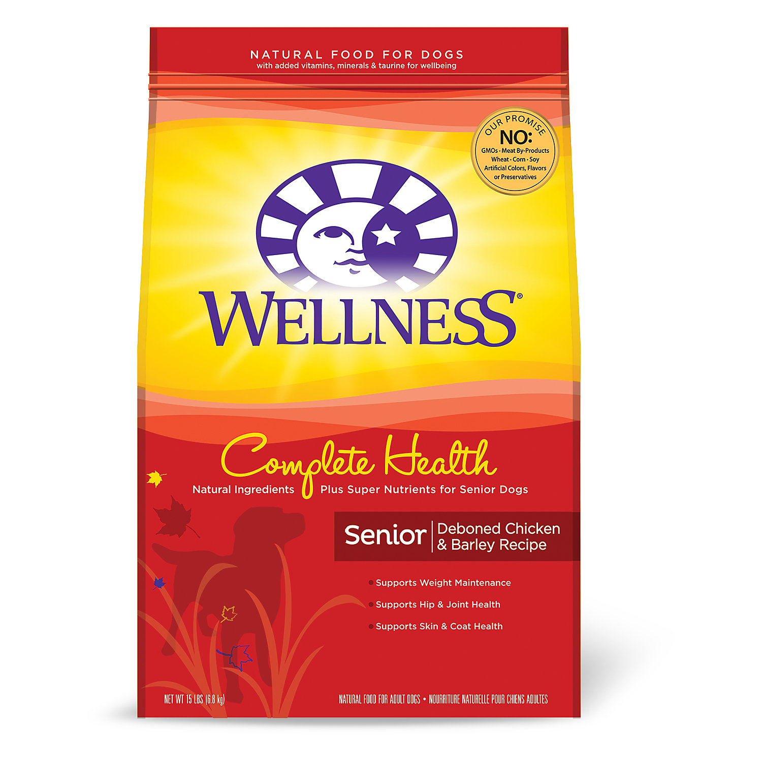 Wellness Complete Health Natural Senior Health Recipe Dry Dog Food 15 Lbs.