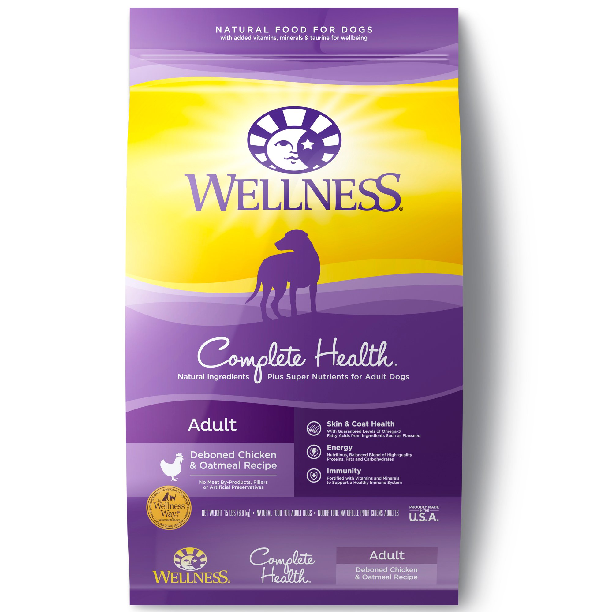 Best Natural Dog Food >> Wellness Complete Health Natural Chicken Recipe Dry Dog Food 30 Lbs
