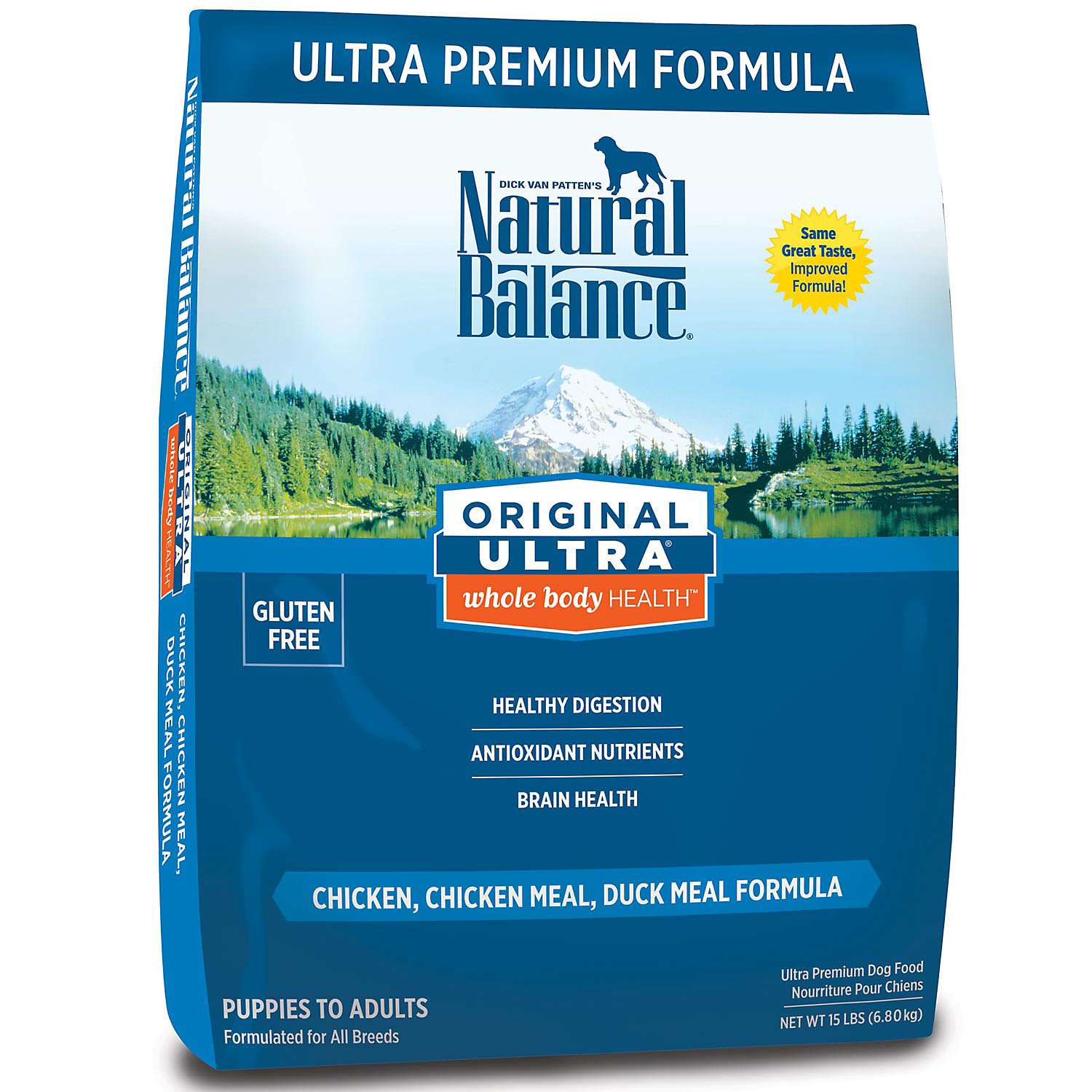 Natural Balance Original Ultra Whole Body Heallth Dog Food 15 Lbs.