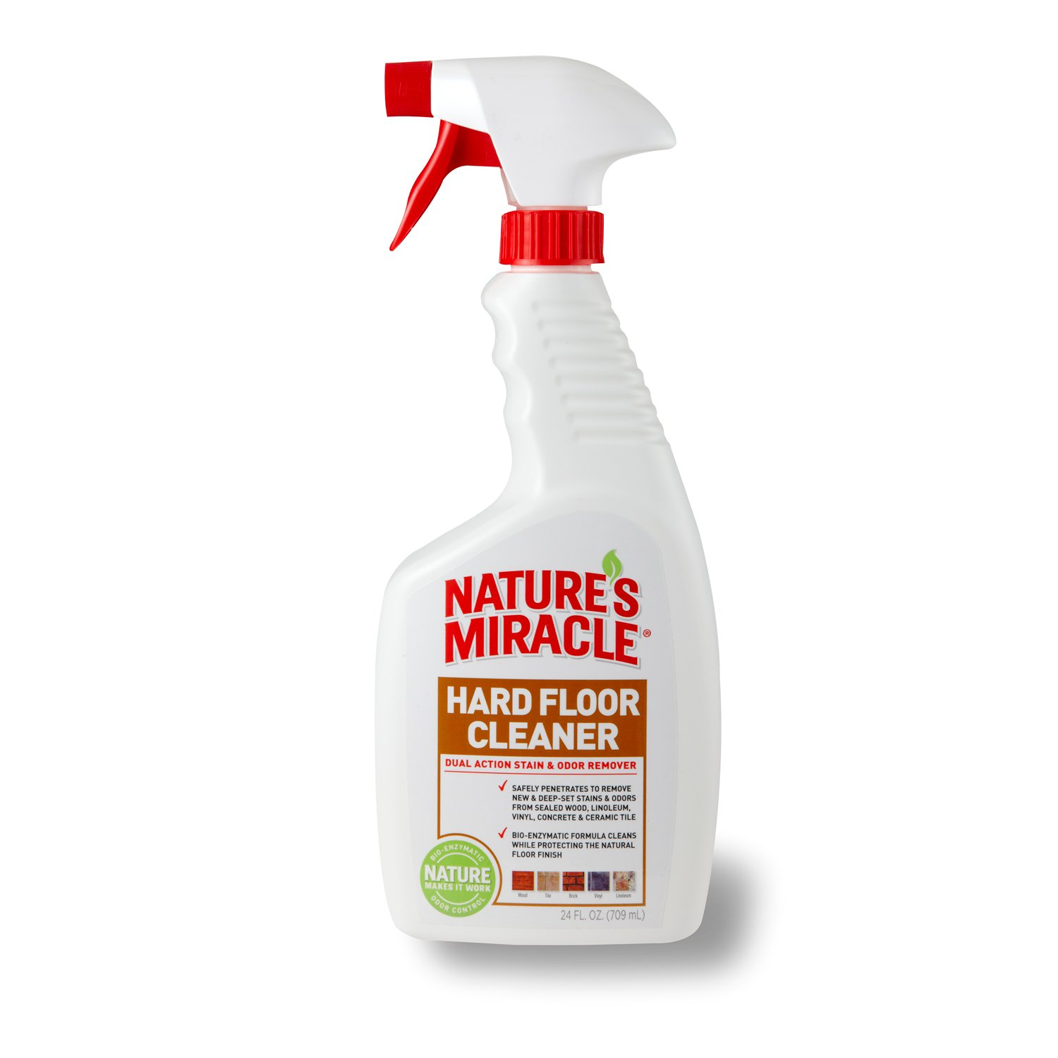 nature's miracle advanced dual-action hard floor stain & odor