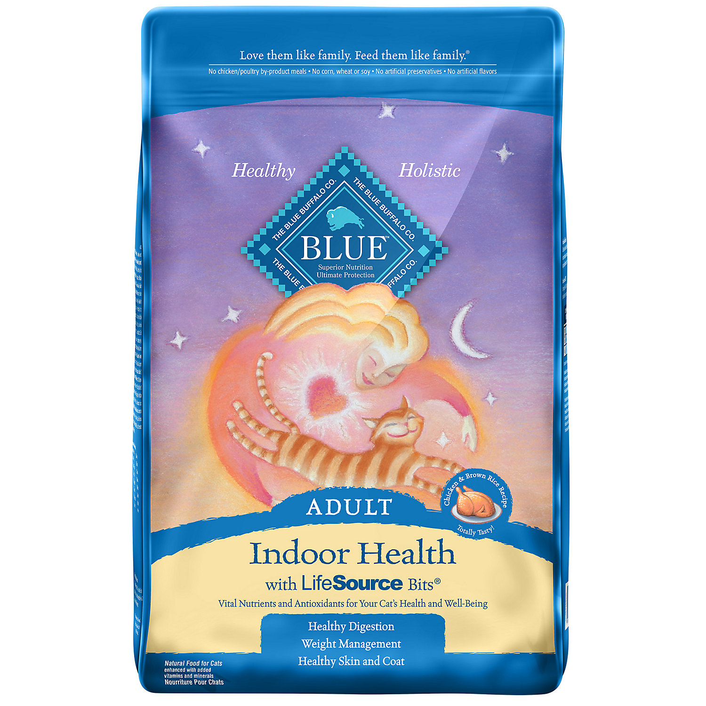 Blue Buffalo Indoor Health Chicken Brown Rice Adult Cat Food 15 Lbs.