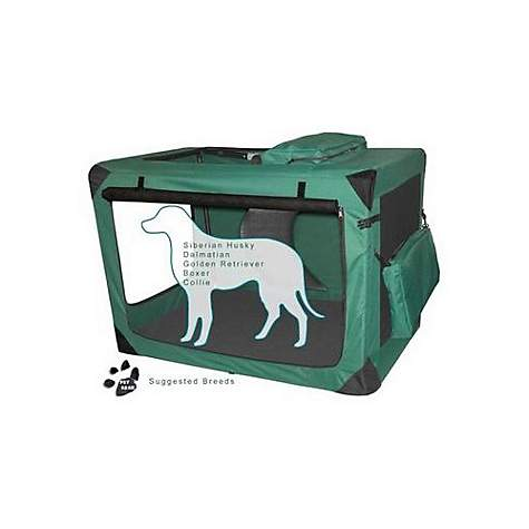 Pet Gear Deluxe Generation II Soft Crate in Moss Green