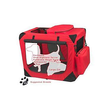 Pet Gear Deluxe Generation II Soft Crate in Red Poppy