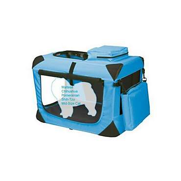 Pet Gear Deluxe Generation II Soft Crate in Ocean Blue