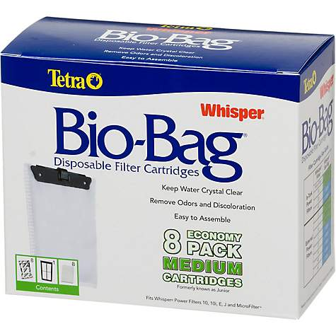 Tetra Whisper Bio Bag Disposable Filter Cartridges Medium 8 Pack Petco