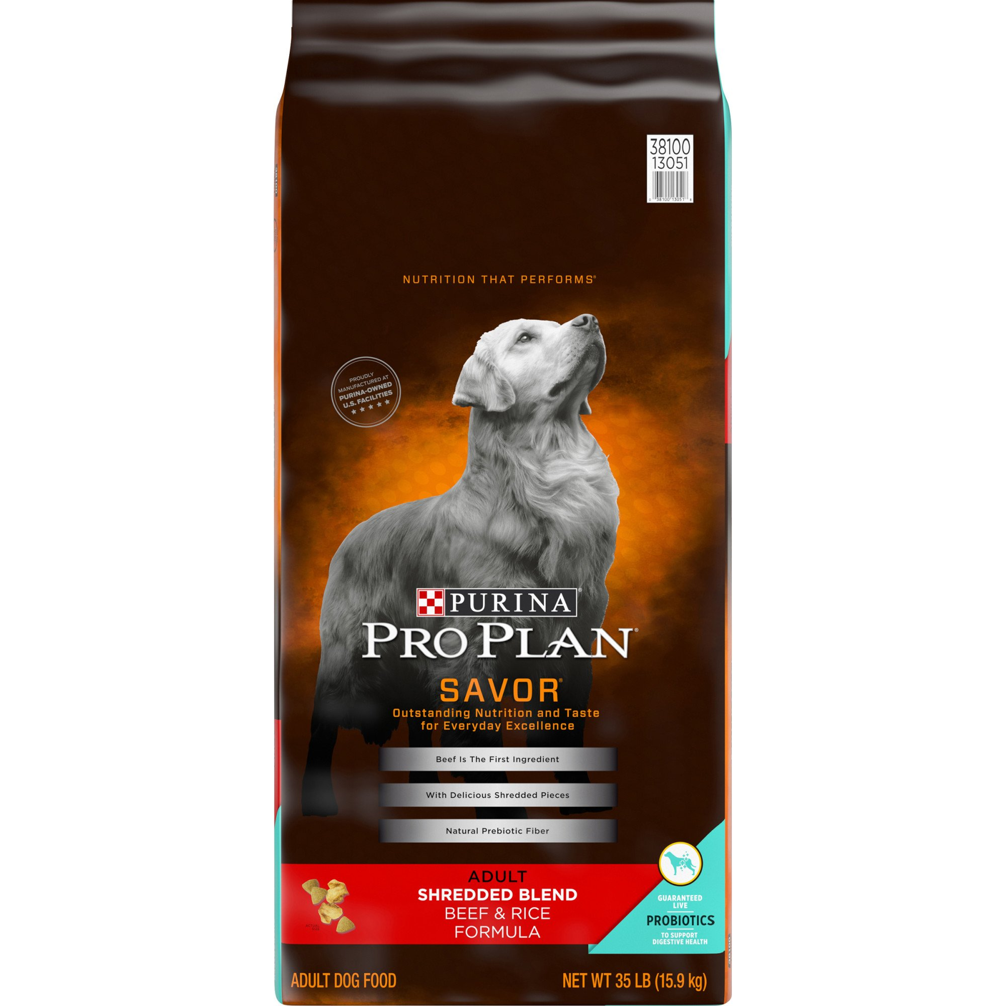 Purina Pro Plan Savor Shredded Blend Beef Rice Adult Dog Food Petco