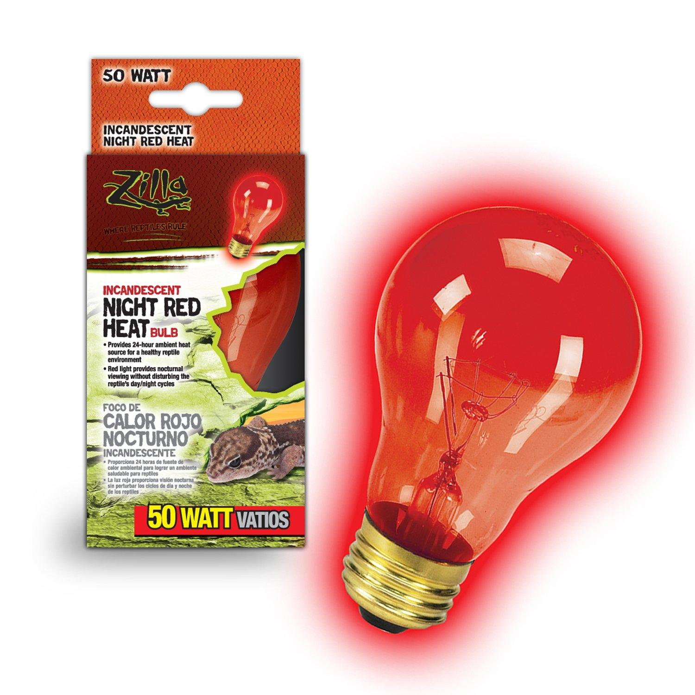 Zilla Night Red Heat Incandescent Bulb 50 Watts Petco