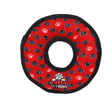 Tuffy's Red Paw Ring Dog Toy