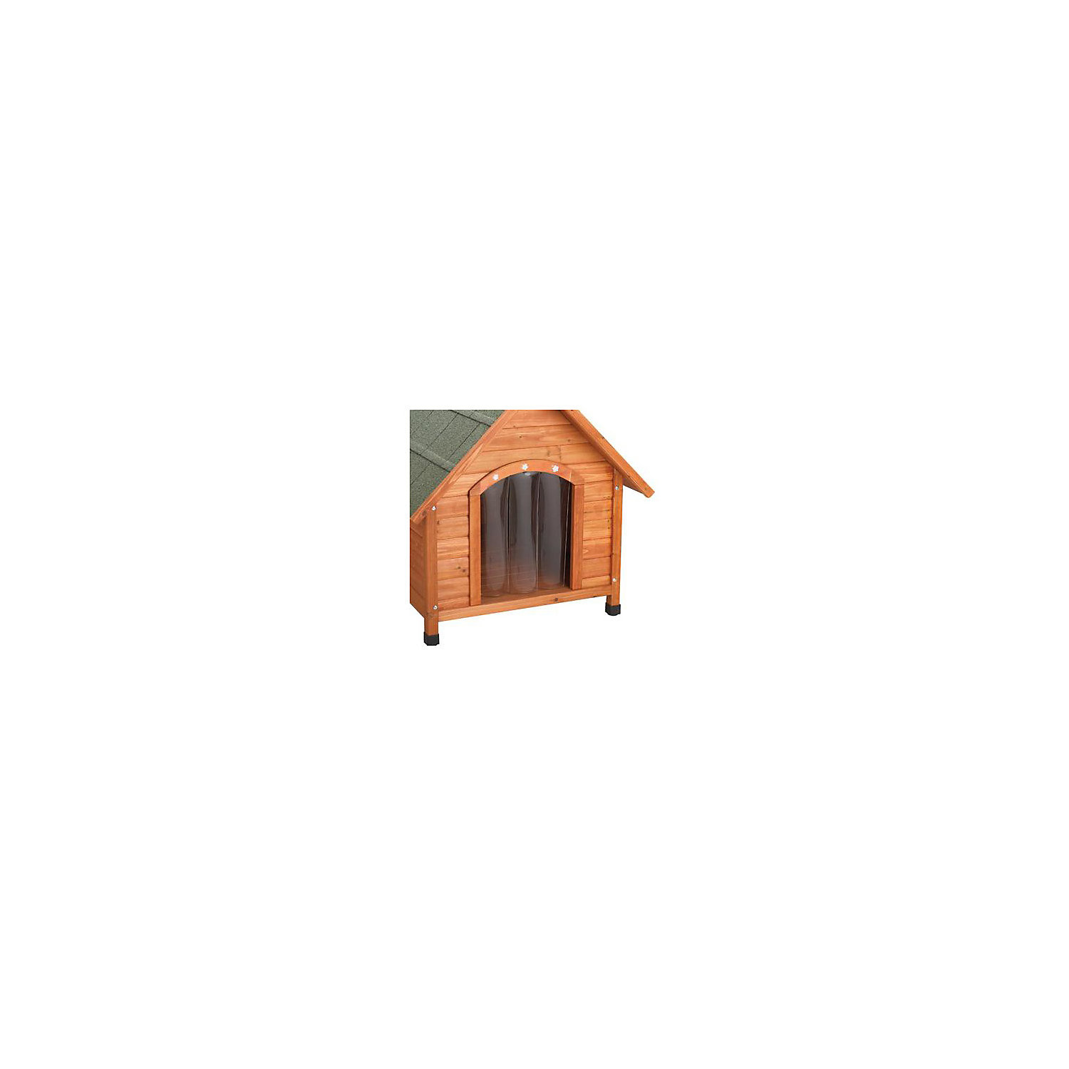 Ware Premium Plus A Frame Dog House Door Flap Small Brown