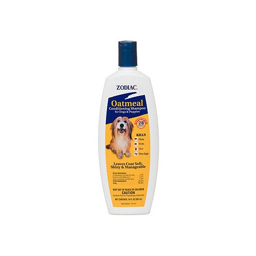 Zodiac Oatmeal Flea Tick Dog Puppy Conditioning Shampoo Petco