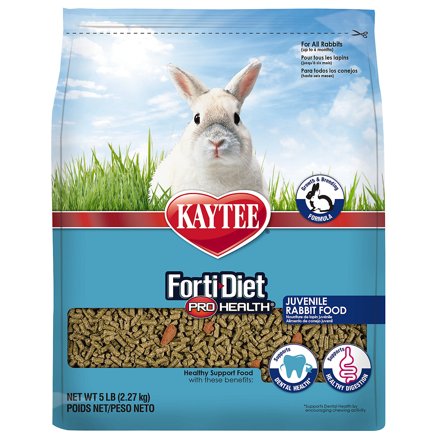 Kaytee Forti Diet Pro Health Food For Juvenile Rabbits 5 Lbs.