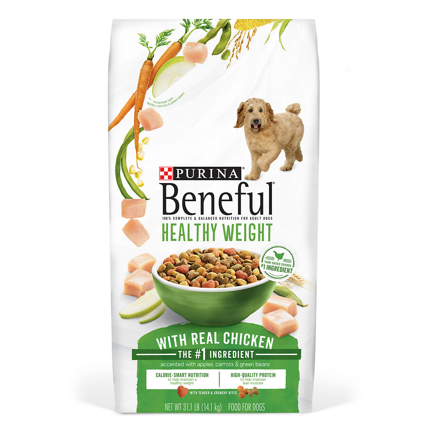 Purina Beneful Healthy Weight With Real Chicken Dry Dog Food 31.1 Lb. Bag