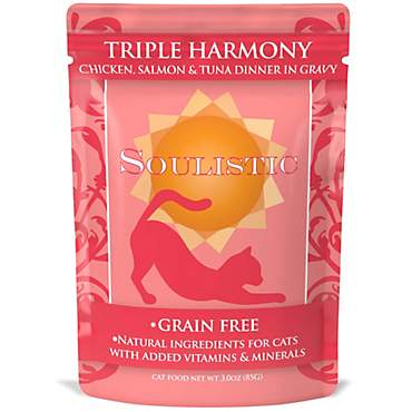 Soulistic Triple Harmony Chicken, Salmon & Tuna Dinner in Gravy Wet Cat Food