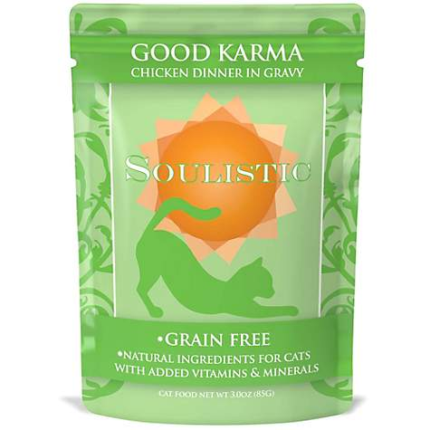 Soulistic Good Karma Chicken Dinner in Gravy Cat Food Pouches