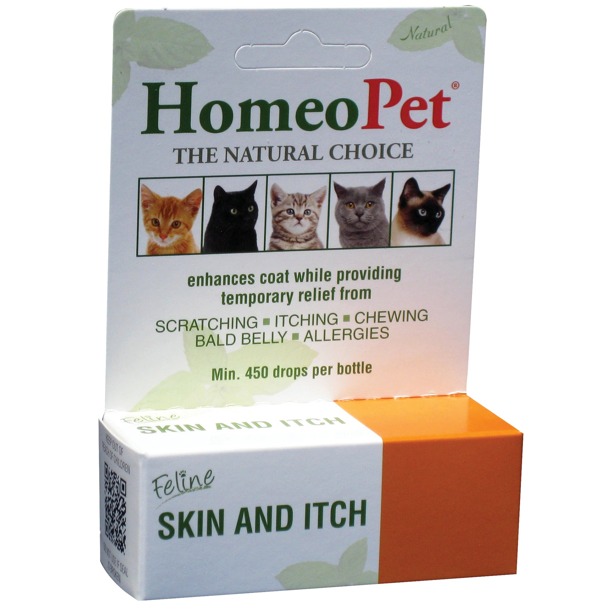 HomeoPet Feline Skin & Itch Natural Cat Coat Enhancer