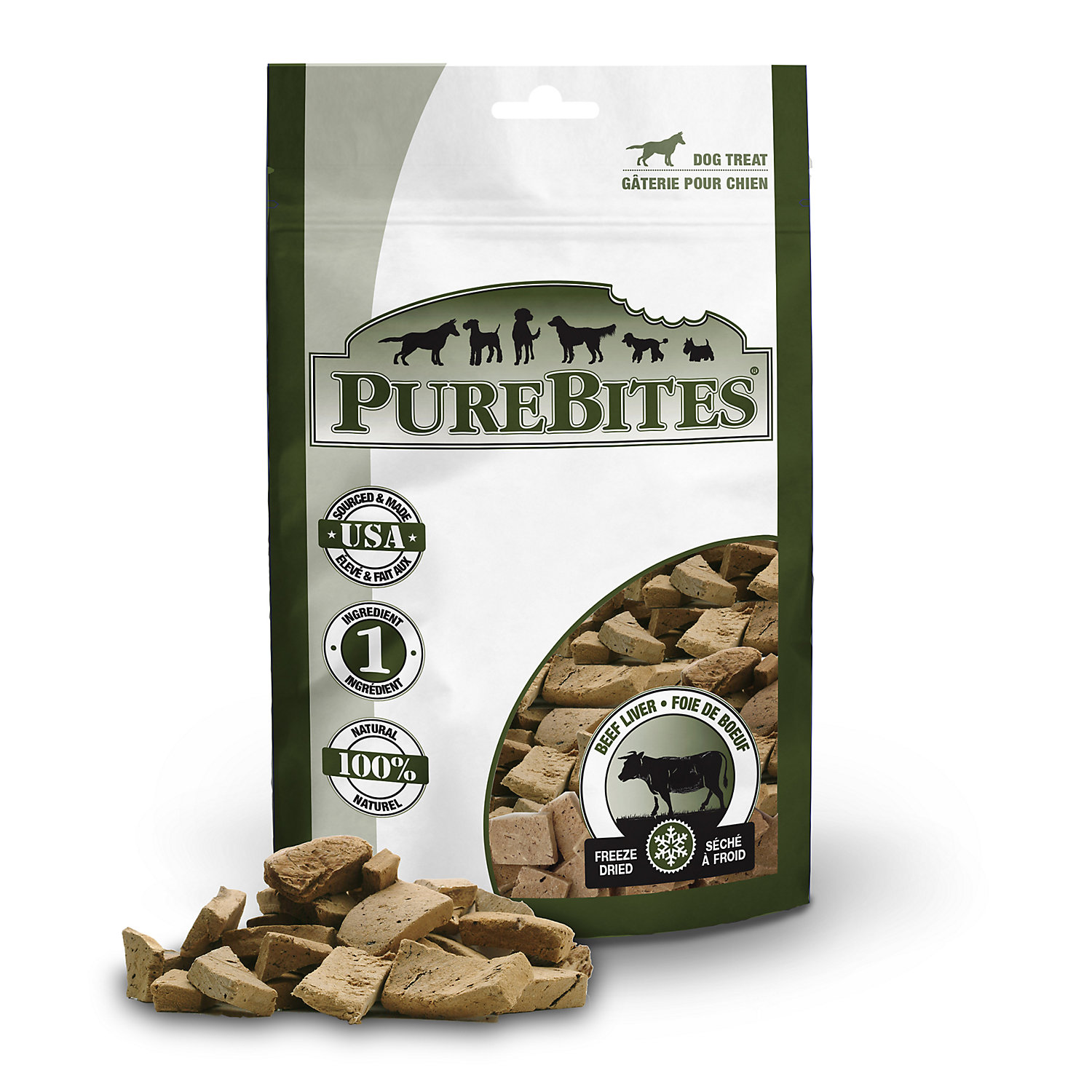 Image of PureBites Beef Liver Mid Size Dog Treats