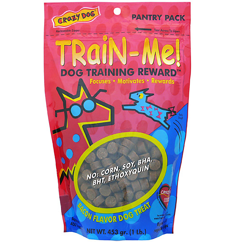 Crazy Dog Train Me Bacon Flavored Training Reward Dog Treats 16 Oz Bag