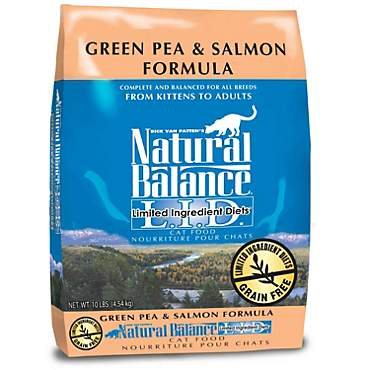 Natural Balance L.I.D. Limited Ingredient Diets Green Pea & Salmon Formula Dry Cat Food