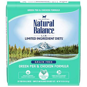 Natural Balance L.I.D. Limited Ingredient Diets Green Pea & Chicken Formula Dry Cat Food